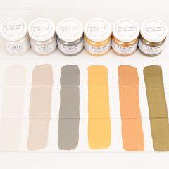 Metallic verf kleuren
