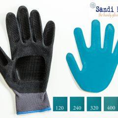 Schuurhandschoen en schuurpapier diverse korrels