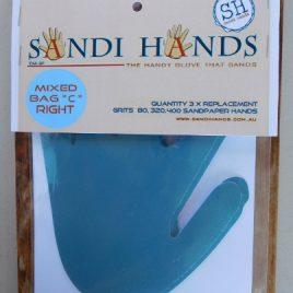 Gemengd vervangpakket C Sandi Hands schuurpapier
