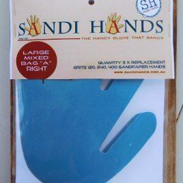 Gemengd vervangpakket A Sandi Hands groot schuurpapier