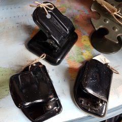 Vintage perforator zwart