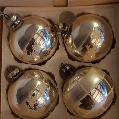 nostalgische kerstballen in doosje