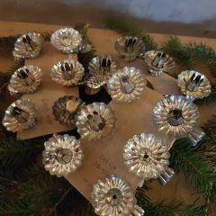 kerstboomkaars houdertje geschulpt