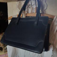 vintage tas blauw