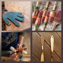 Schilder Materialen, schuurhandschoenen & kwasten