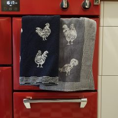 Keukendoeken set Haan blauw - Goodmorning Rooster