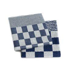 blauw geblokt keuken doeken set