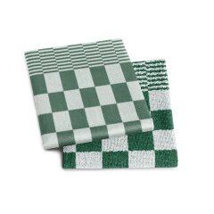 groen geblokt keuken doeken set