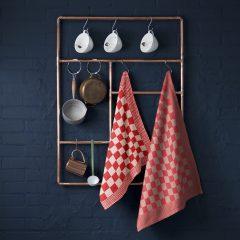 Keukendoeken set BBQ blok rood