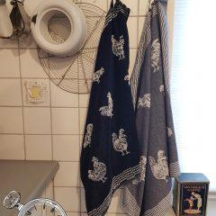 Haantje theedoek en handdoek