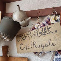 cafe Royale tekstbordje