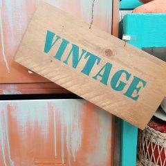 tekstbord vintage