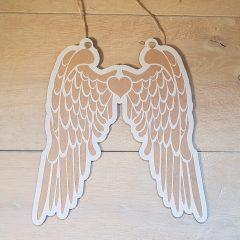 Sjabloon engelvleugels met MDF