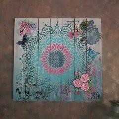 Gepersonaliseerde mixed media wanddecoratie