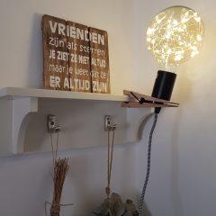 Knijper lamp hout