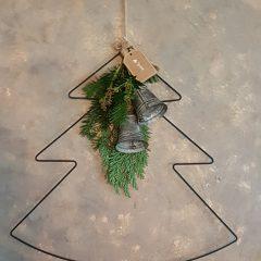 Metalen kerstboom hanger