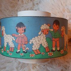 vintage lampenkap kinderkamer
