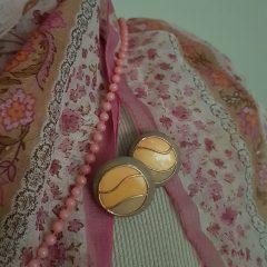 Vintage roze oorbellen
