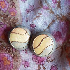 Vintage roze oorbellen / clips