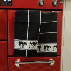 Keukendoeken set koe zwart