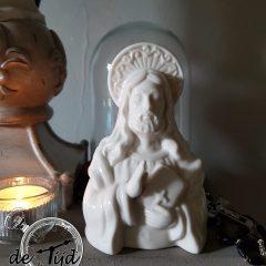 Borstbeeld Jesus Clayre & Eef in porselein