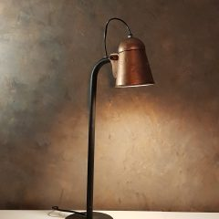 Stoere lamp old copper