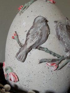 doe het zelf paasei met vogels