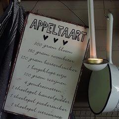 Appeltaart recept bordje